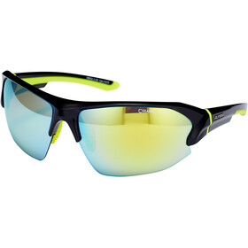 Alpina Lyron HR Occhiali, black-neon yellow